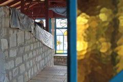 SAFED, ИЗРАИЛЬ - 24-ое июня 2015: Усыпальница равина Nachum Ish Gamzu в Safed, Израиле Святыня священная к еврейскому peopl Стоковые Фотографии RF