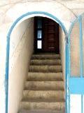 Safed gammal stadsingång till huset 2008 Arkivbilder