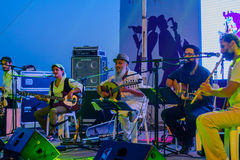Klezmer Festival 30th in Safed Tzfat, Israel. SAFED, ISRAEL - AUGUST 23, 2017: Group of musicians Agadata play at the Klezmer Festival in Safed Tzfat, Israel Royalty Free Stock Photo