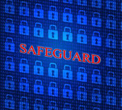 Safeguard Safety Represents Privacy Key And Protected Royalty Free Stock Images