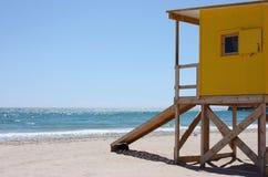 Safeguards beach house. Wooden beach house of safeguard Stock Image