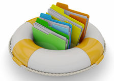 Safely Folder Concept - 3D Royalty Free Stock Photos