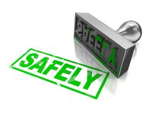 Safely stamp Royalty Free Stock Photography