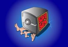 Safer Sex-Karikatur-Zeichnung Lizenzfreies Stockfoto