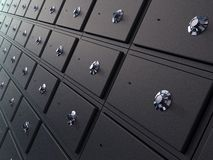 Wall of Safes Stock Image