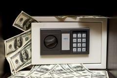 safestål för elektroniska pengar Arkivfoto