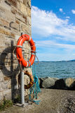 Safety. Measures along the pier. Dublin Stock Images