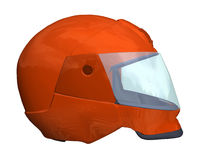 Safety. Computer image, red helmet 3D, isolated white background Stock Photo
