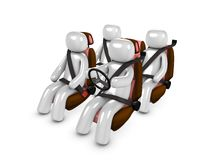 Safety. 3d image, conceptual passenger safety Royalty Free Stock Photos