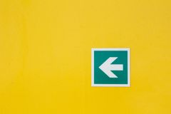 Safety arrow sign Stock Photos