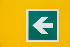 Safety arrow sign Stock Images