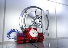 Safety of bank vault Stock Photos