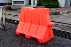 Safety. Barrier the area off-street parking Stock Images