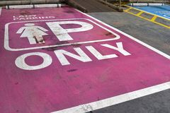 Safety. Barrier the area off-street parking Royalty Free Stock Image