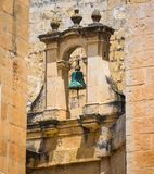 Safety bell in Mdina Stock Photo