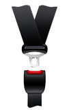 Safety belt. On the white Royalty Free Stock Photo