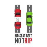 Safety belt conceptual background. Royalty Free Stock Photo