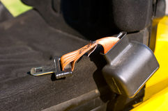Safety belt of a forklift Stock Photography
