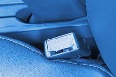 Safety belt lock catch Stock Photo