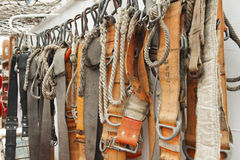 Safety belt and rope Royalty Free Stock Photo