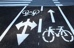 Safety bike road crossing Royalty Free Stock Photos