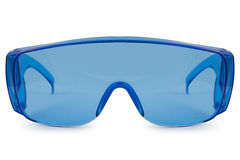 Safety blue glasses Stock Images
