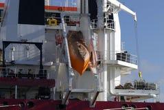 Safety on board modern merchant navy vessel Stock Photo