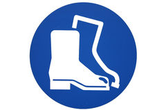 Safety boots sign Royalty Free Stock Photography