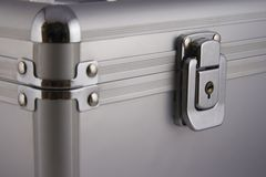 Safety box. And detail of the lock Royalty Free Stock Images