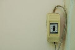 Safety breaker. Switch control electricity home Royalty Free Stock Images