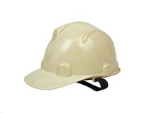 Safety Builder Helmet Side Left Two. White colored Builder Safety Helmet left side view two royalty free stock photography