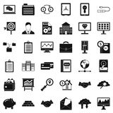 Safety business icons set, simple style. Safety business icons set. Simple style of 36 safety business vector icons for web isolated on white background Stock Photos
