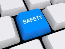 Safety button Royalty Free Stock Images
