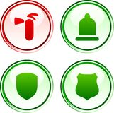Safety  buttons. Stock Photography