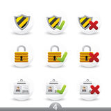 Safety buttons...series no.4 Royalty Free Stock Photography
