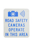 Safety Camera Sign Royalty Free Stock Images