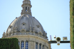 Safety camera sited in Montjuic.  Stock Photos