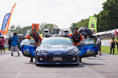 Safety car driver Toyota GT86 Royalty Free Stock Photography