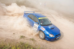 Safety car on dusty road Stock Photography