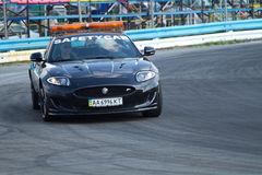 Safety car lead the Formula 3 racer of Ukraine Royalty Free Stock Photography