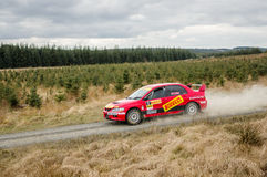 Safety car at Pirelli International Rally stock photo