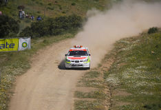 Safety Car in Rally de Portugal 2013 Stock Photos