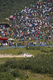 Safety Car in Rally de Portugal 2013 Royalty Free Stock Image