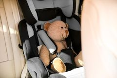 Safety car seat for baby Stock Images
