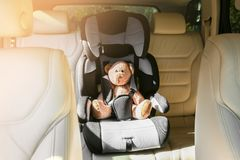 Safety car seat for baby Stock Image