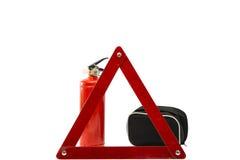 Safety car set isolated on white background Stock Photo