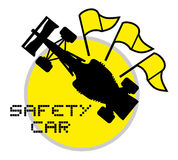Safety car symbol Stock Image