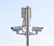 Safety cctv control camera security monitoring equipment Stock Photo