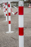 Safety chains fence Royalty Free Stock Photo
