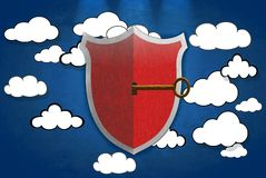 Safety cloud. Stock Photo